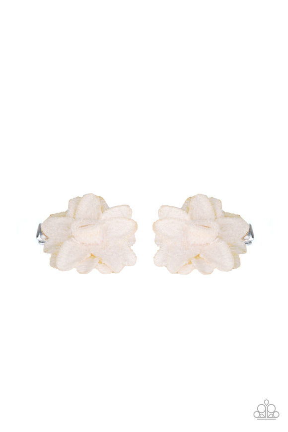 Lovely In Lilies White Hair Clip - Paparazzi Accessories
