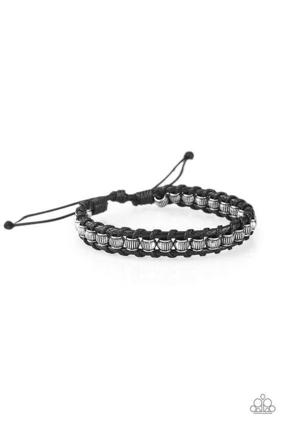 Modern Mariner Black Urban Bracelet - Paparazzi Accessories - jazzy-jewels-gems