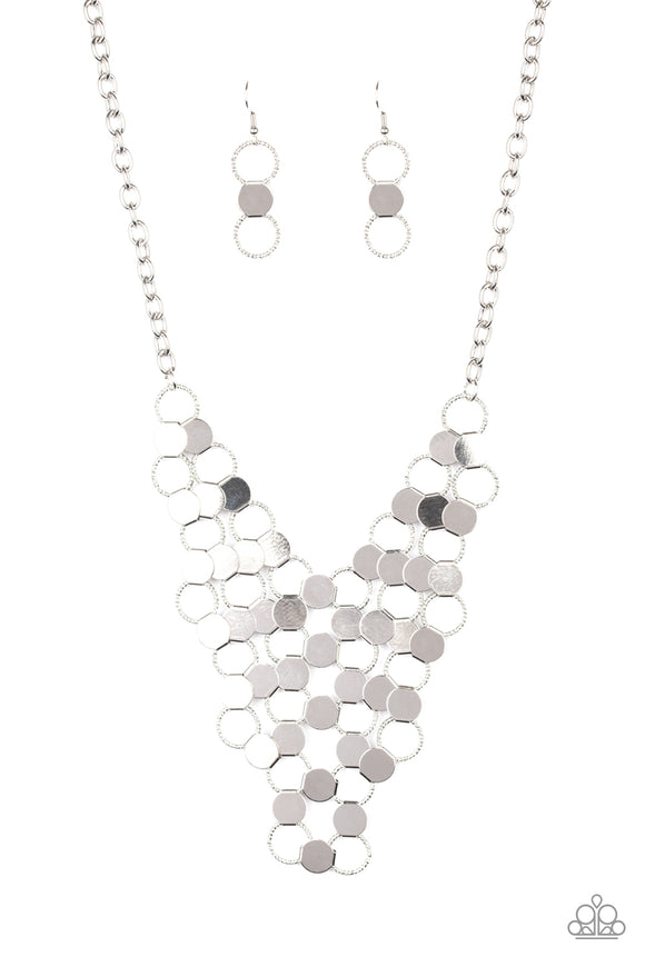 Net Result Silver Necklace - Paparazzi Accessories