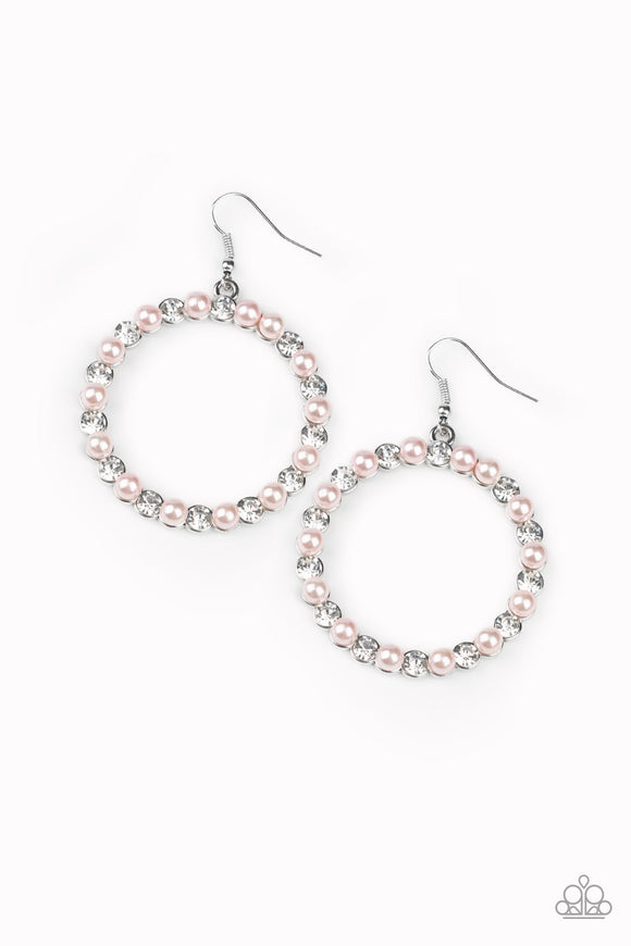 Pearl Palace Pink Earring - Paparazzi Accessories