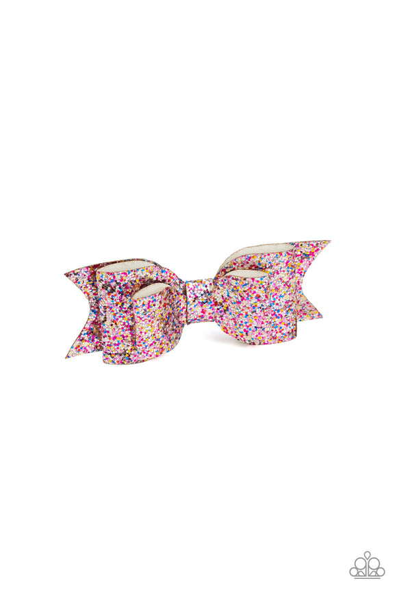 Put A Bow On It Multi Hair Clip - Paparazzi Accessories - jazzy-jewels-gems