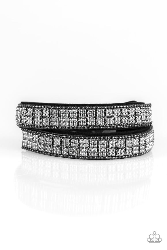 Rock Band Refinement Black Urban Wrap Bracelet - jazzy-jewels-gems