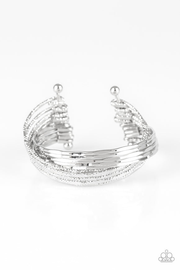 See A Pattern? Silver Cuff Bracelet - Paparazzi Accessories