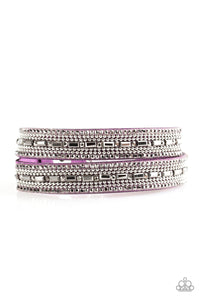 Shimmer and Sass Purple Wrap Bracelet - Paparazzi Accessories