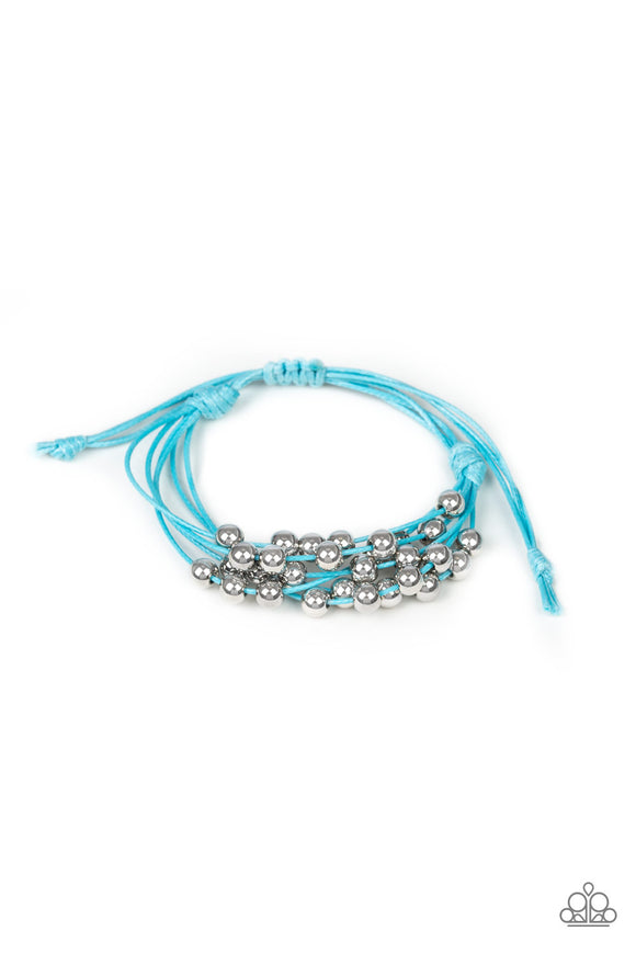 Without Skipping A BEAD Blue Bracelet - Paparazzi Accessories