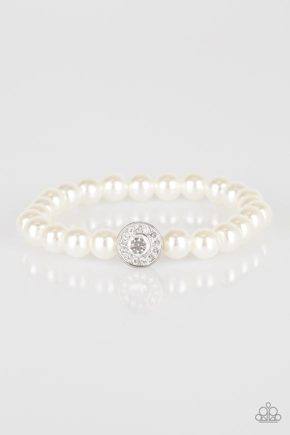 Follow My Lead White Pearl Bracelet - Paparazzi Accessories