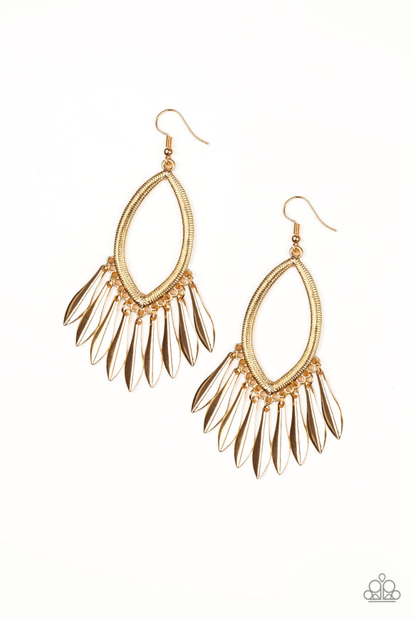 My FLAIR Lady Gold Earring - Paparazzi Accessories