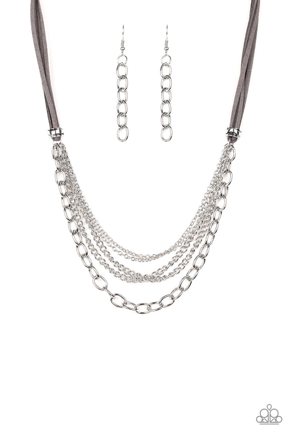 Free Roamer Silver Necklace - Paparazzi Accessories