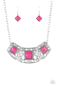 Feeling Inde-PENDANT Pink Necklace - Paparazzi Accessories