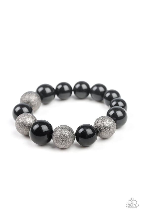 Humble Hustle Black Bracelet - Paparazzi Accessories