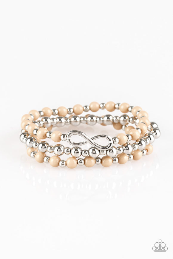 Immeasurably Infinite Brown Bracelet - Paparazzi Accessories
