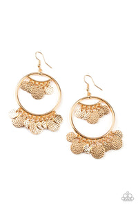All-CHIME High Gold Earring - Paparazzi Accessories