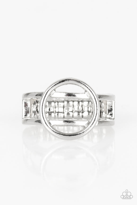 City Center Chic Silver Ring - Paparazzi Accessories