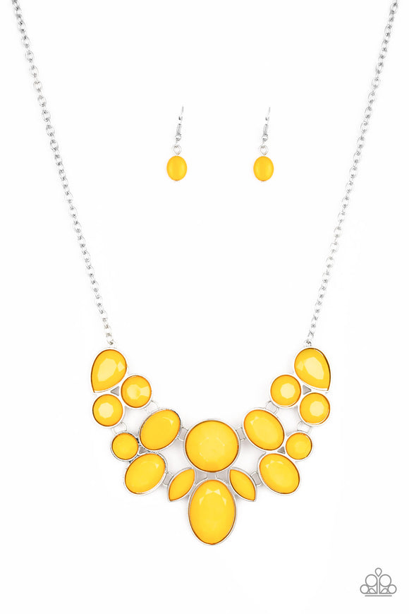 Demi-Diva Yellow Necklace - Paparazzi Accessories