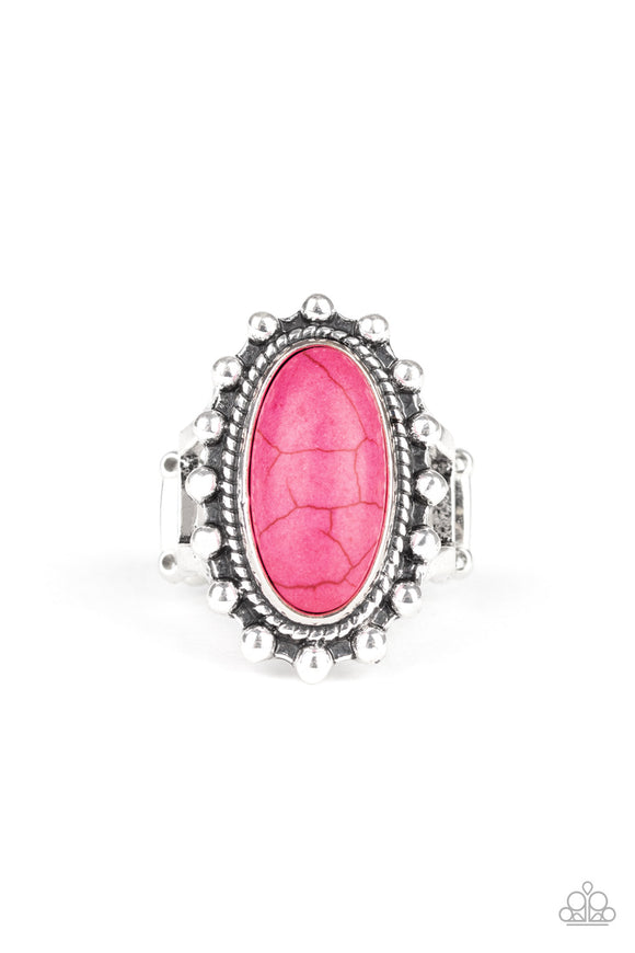 Mineral Movement Pink Ring - Paparazzi Accessories