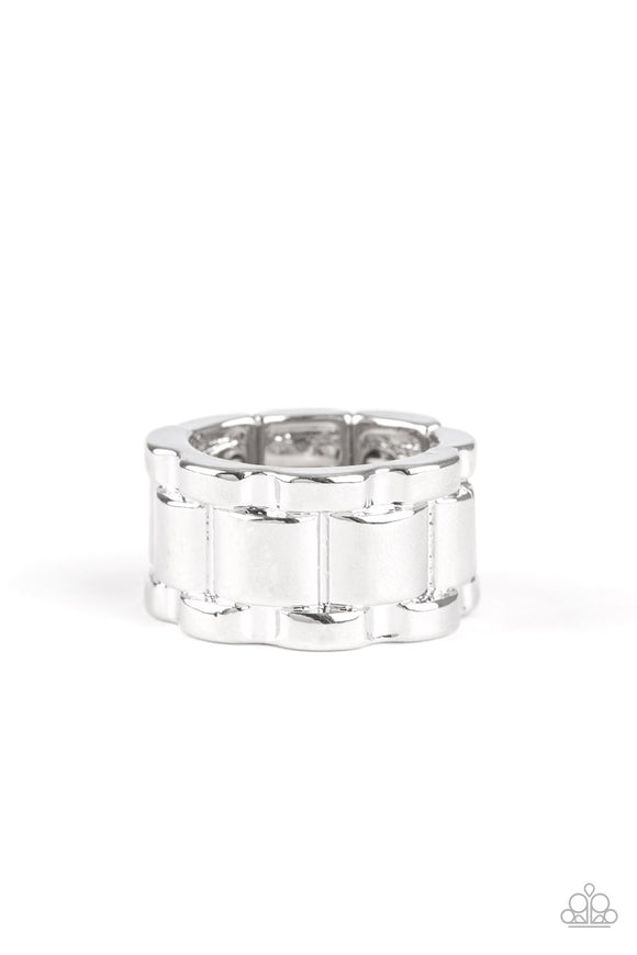 Modern Machinery Silver Urban Ring - Paparazzi Accessories