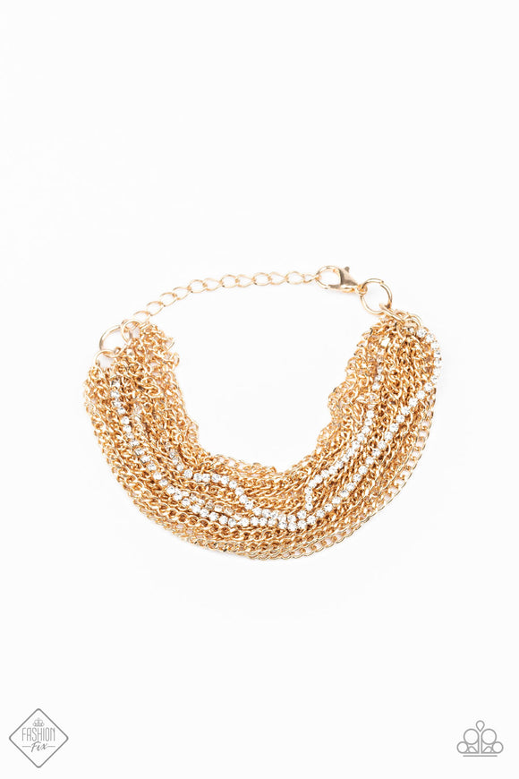 Pour Me Another Gold Bracelet - Paparazzi Accessories