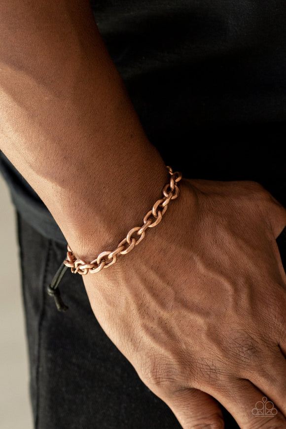 Rumble Copper Urban Bracelet - Paparazzi Accessories - jazzy-jewels-gems