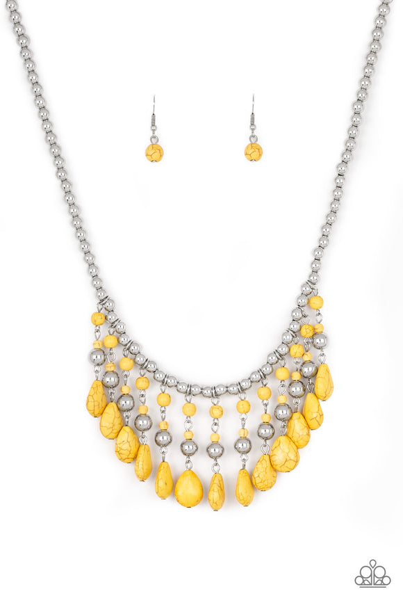 Rural Revival Yellow Necklace - Paparazzi Accessories
