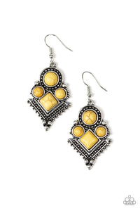 So Sonoran Yellow Earring - Paparazzi Accessories