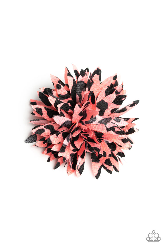 Splattered Splendor Pink/Black Hair Clip - Paparazzi Accessories