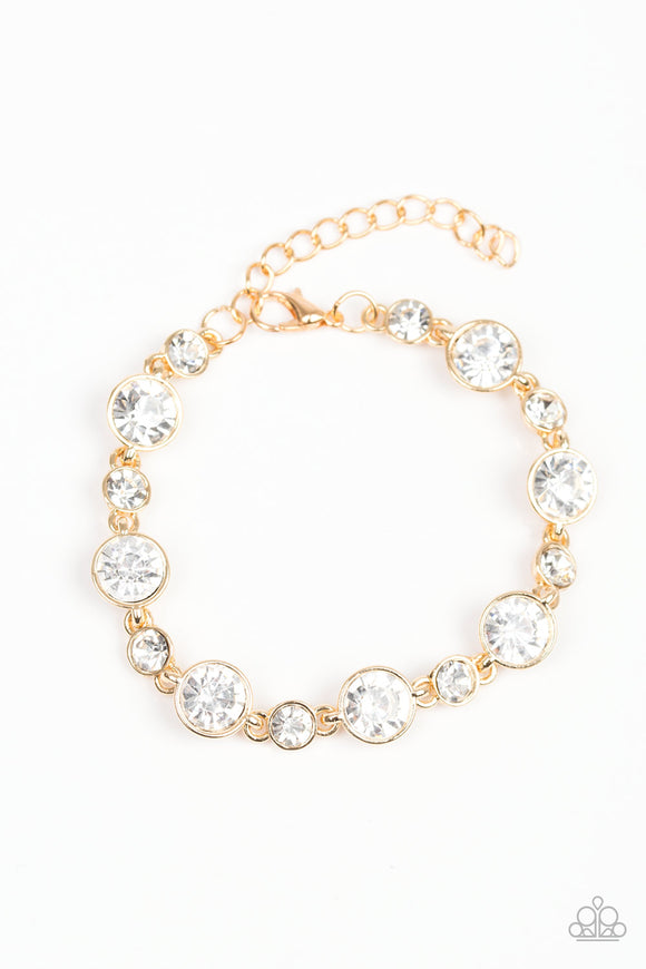 Starstruck Sparkle Gold Bracelet - Paparazzi Accessories