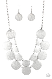 Stop and Reflect Silver Necklace - Paparazzi Accessories