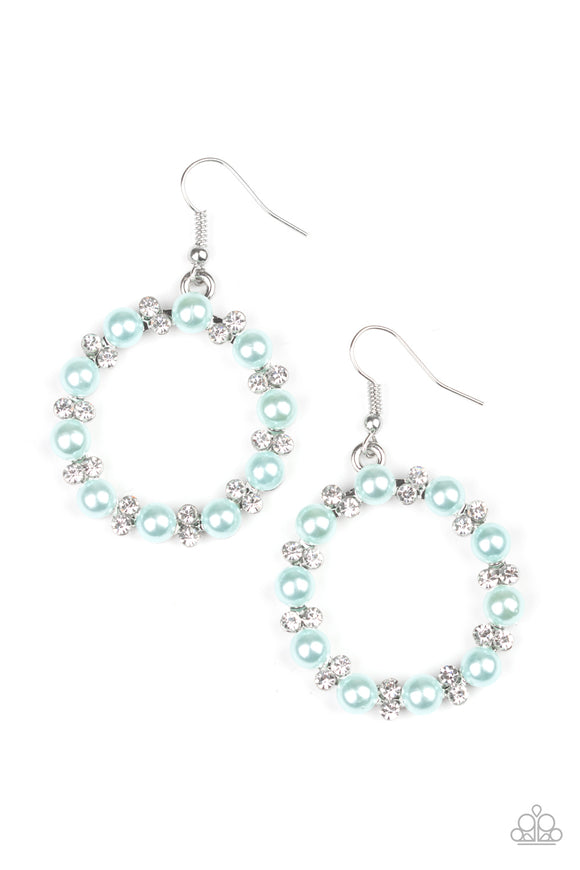 Symphony Sparkle Blue Earring - Paparazzi Accessories