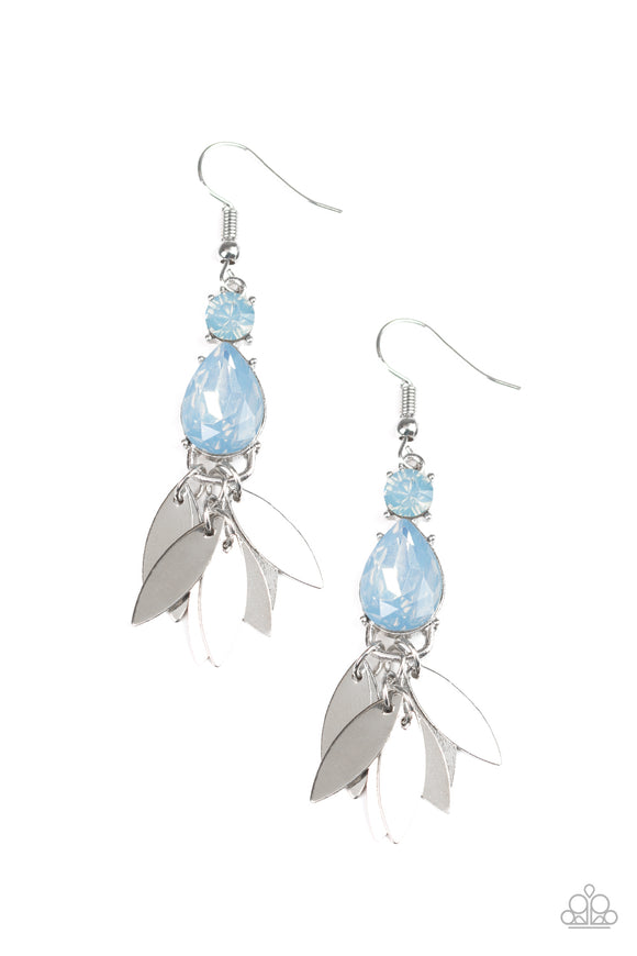 Tropical Tranquility Blue Earring - Paparazzi Accessories