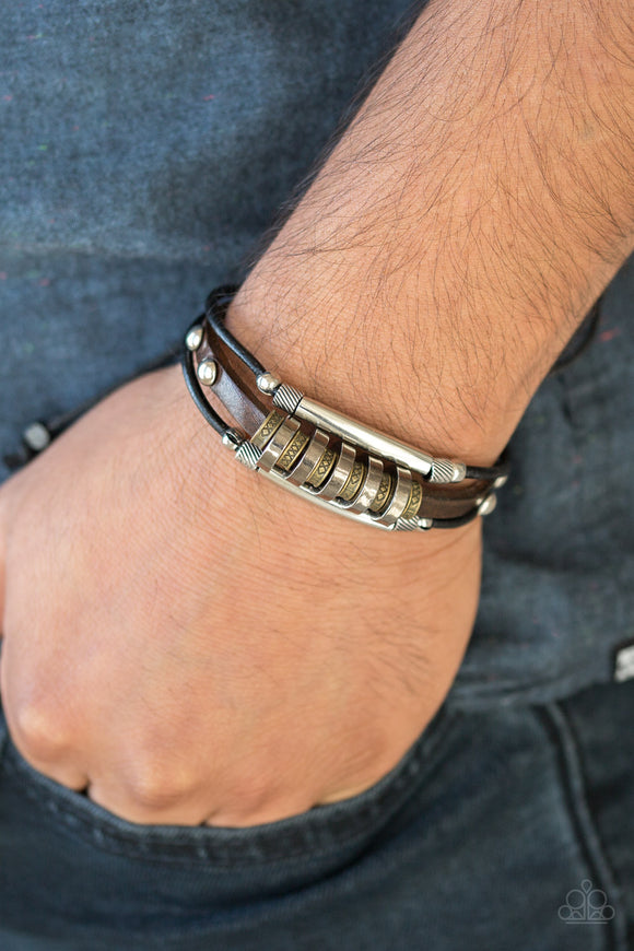 Urban Backpacker Black Urban Bracelet - Paparazzi Accessories