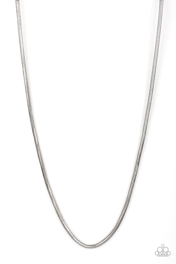 Victory Lap Silver Urban Necklace - Paparazzi Accessories