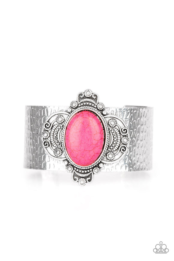 Yes I CANYON Pink Cuff Bracelet - Paparazzi Accessories - jazzy-jewels-gems