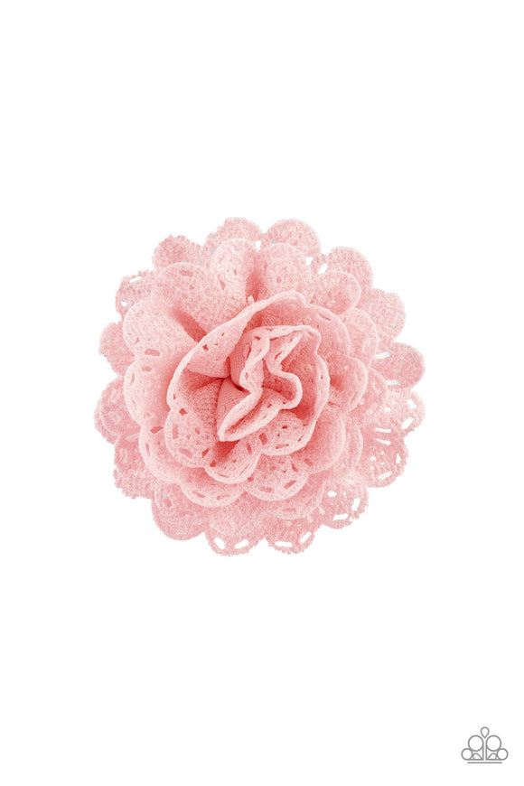 Floral Fashionista Pink Hair Clip - Paparazzi Accessories - jazzy-jewels-gems