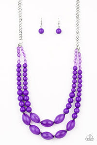 Sundae Shoppe Purple Necklace - Paparazzi Accessories