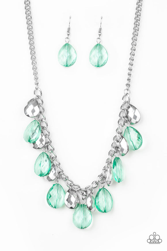 No Tears Left To Cry Green Necklace - Paparazzi Accessories