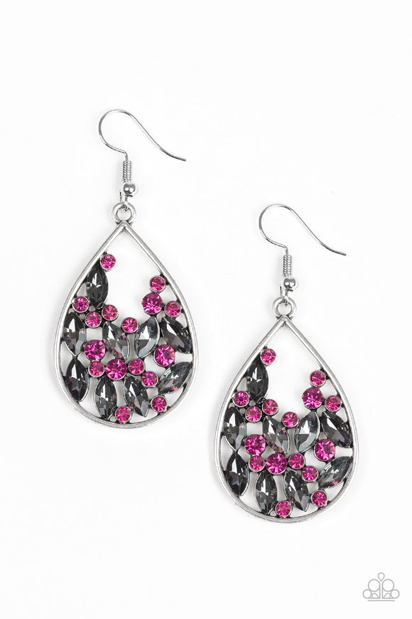 Cash or Crystal? Pink Earring - Paparazzi Accessories