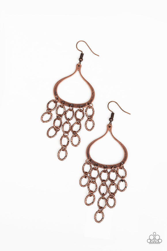 Total Net Revenue Copper Earring - Paparazzi Accessories