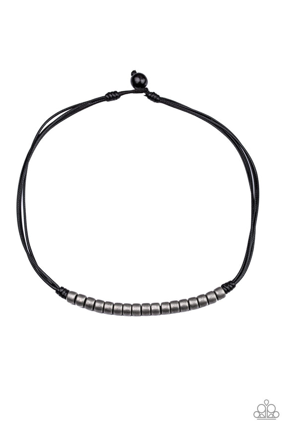 On The TREASURE Hunt Black Urban Necklace - Paparazzi Accessories