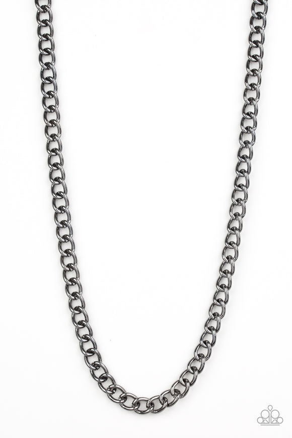 Full Court Black Urban Necklace - Paparazzi Accessories