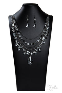 Prismatic Zi Collection 2019 Gunmetal Necklace - Paparazzi Accessories - jazzy-jewels-gems
