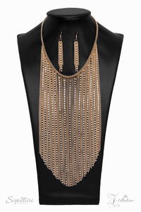 The Ramee Zi Collection 2019 Gold Necklace - Paparazzi Accessories - jazzy-jewels-gems