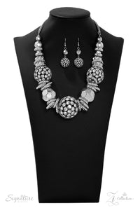 The Barbara Zi Collection 2019 Silver Necklace - Paparazzi Accessories - jazzy-jewels-gems