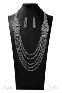 The Erika Zi Collection 2019 Silver Necklace - Paparazzi Accessories - jazzy-jewels-gems