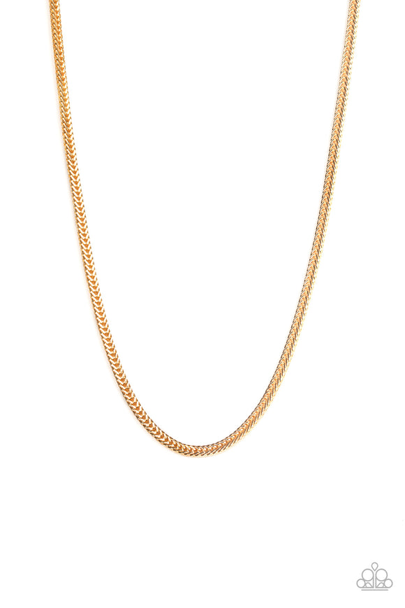 Killer Crossover Gold Urban Necklace - Paparazzi Accessories