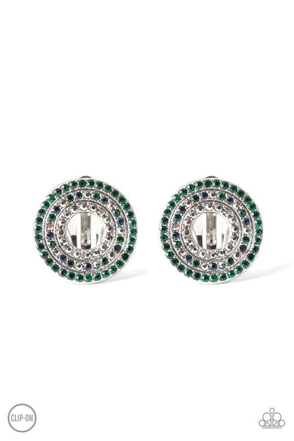 Spun Out On Shimmer Multi Clip-On Earring - Paparazzi Accessories