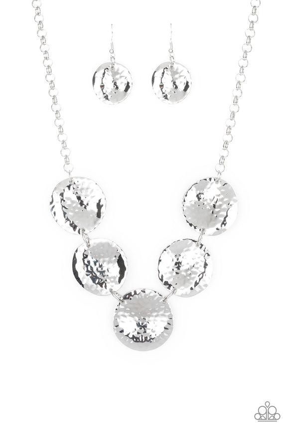 First Impressions Silver Necklace - Paparazzi Accessories