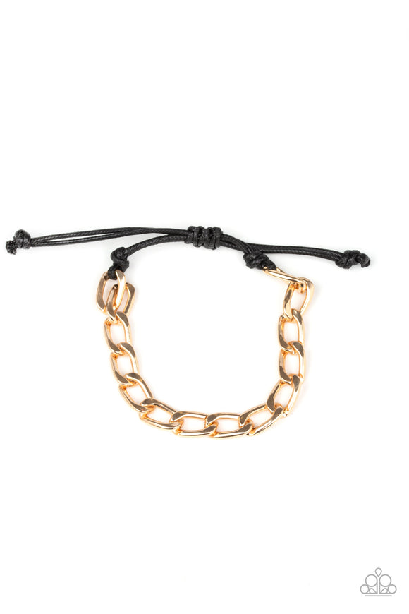 Goalpost Gold Urban Bracelet - Paparazzi Accessories