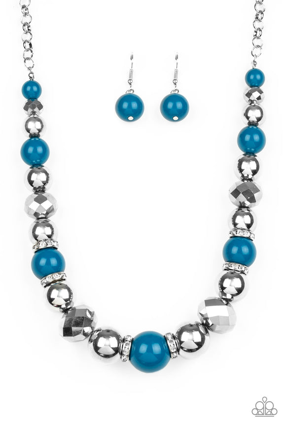 Weekend Party Blue Necklace - Paparazzi Accessories