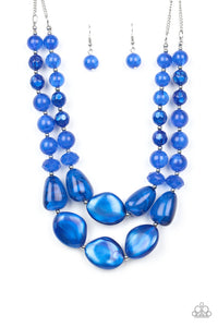 Beach Glam Blue Necklace - Paparazzi Accessories