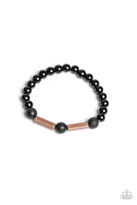 Metro Meditation Copper Urban Bracelet - Paparazzi Accessories